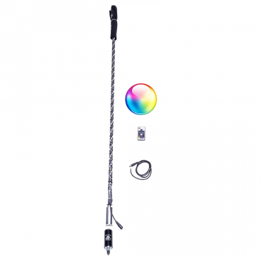 5150 Whips Single LED Whip With Remote