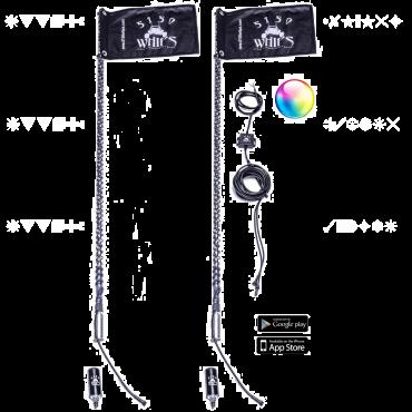 5150 Whips 187 LED Whip Pair