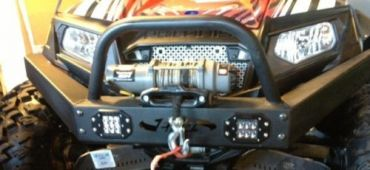 EMP RZR Extreme Front Bumper / Brush Guard With Winch Mount & LED Lights