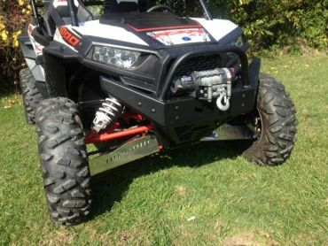 EMP RZR Extreme Front Bumper / Brush Guard With Winch Mount
