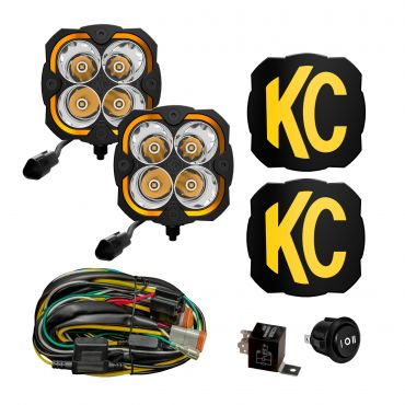 KC HiLiTES FLEX ERA 4 - 2-Light System - 80W Spot Beam