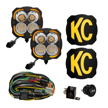 KC HiLiTES FLEX ERA 4 - 2-Light System - 80W Combo Beam